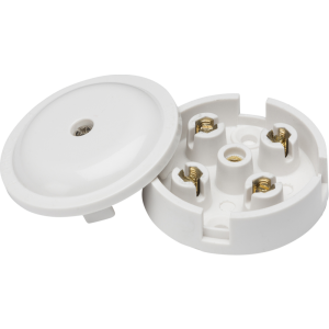5A Junction Box 4-Terminal - White (59mm)