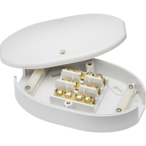 60 Amp Junction Box 3 Terminal White 25mm