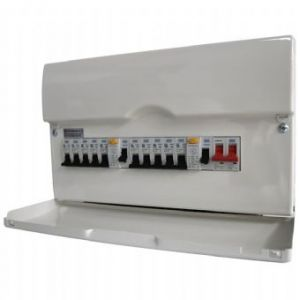 BG 16 Way Fully Loaded High Integrity Metal Consumer Unit 22 Module w/ 100A Sw & 2x63A RCD, 12 MCBs
