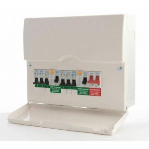BG Dual RCD Pre-Pop Consumer Unit 12 Module - CFUDP16606-01
