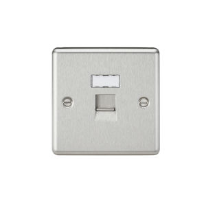 Knightsbridge CL45BC RJ45 Rounded Edge Network Outlet, Chrome