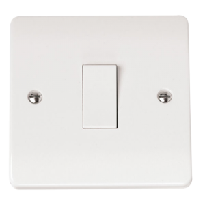 1-GANG 2-WAY 10A PLATE SWITCH-CMA011-Scolmore