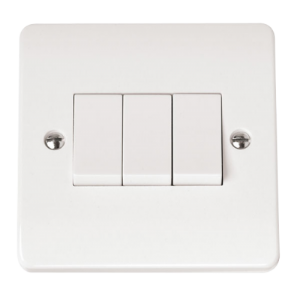 3-GANG 2-WAY 10A PLATE SWITCH-CMA013-Scolmore