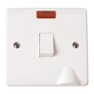 1-GANG 2-POLE 20A SWITCH WITH F/OUTLET-CMA023-Scolmore