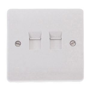 1 GANG DOUBLE CAT-5E OUTLET-CMA132-Scolmore