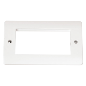 TWIN PLATE QUAD APERTURE FOR MEDIA MODUL-CMA312-Scolmore