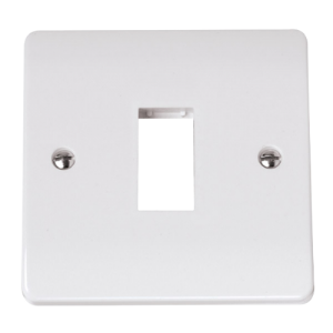 SINGLE SWITCH PLATE1 GANG APERTURE-CMA401-Scolmore