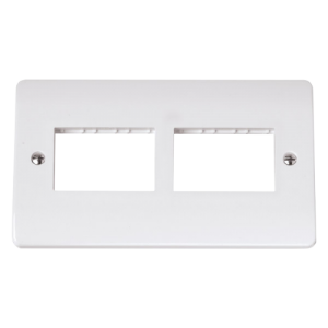 DOUBLE SWITCH PLATE 6 GANG APERTURE-CMA406-Scolmore