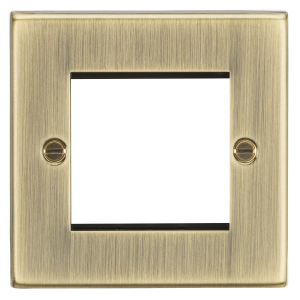 2G Modular Faceplate - Square Edge Antique Brass-CS2GAB-Knightsbridge
