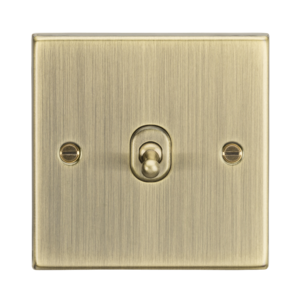 10A 1G Intermediate Toggle Switch - Square Edge Antique Brass-CSTOG12AB-Knightsbridge