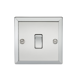 20A 1G DP Switch - Bevelled Edge Polished Chrome-CV834PC-Knightsbridge
