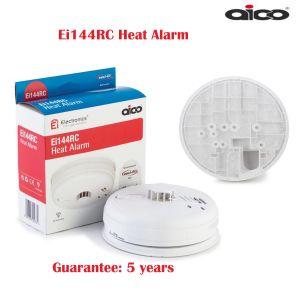 Ei144RC AICO Fire HEAT Alarm Kitchen Garage Interconnect Mains 9v Battery Power