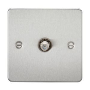 Flat Plate 1G SAT TV Outlet (non-isolated)-FP0150-Knightsbridge