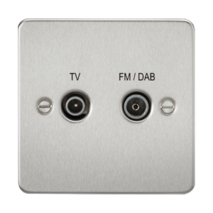 Flat Plate Screened Diplex Outlet (TV & FM DAB)-FP0160-Knightsbridge