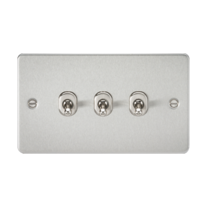 Flat Plate 10A 3G 2-way toggle switch-FP3TOG-Knightsbridge