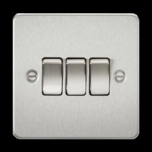 Flat Plate 10A 3G 2-way switch-FP4000-Knightsbridge