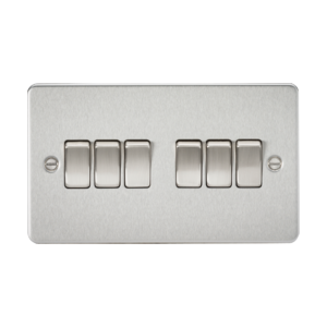 Flat Plate 10A 6G 2-way switch-FP4200-Knightsbridge