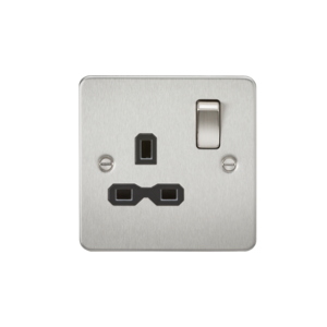 Flat plate 13A 1G DP switched socket-FPR7000-Knightsbridge