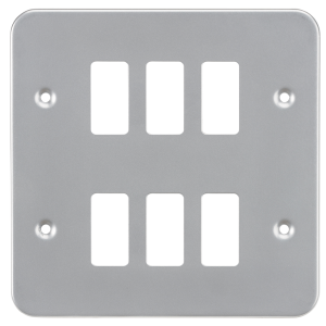 Metalclad 6G grid faceplate-GDFP006M-Knightsbridge