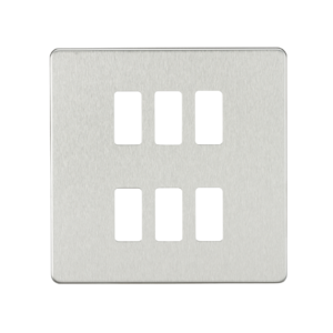 Screwless 6G grid faceplate-GDSF006-Knightsbridge