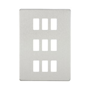Screwless 9G grid faceplate-GDSF009-Knightsbridge