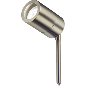 Knightsbridge GU10SPIKEL Stainless Steel Lightweight Spike Light, Aluminium, 35 W, GU10 IP65