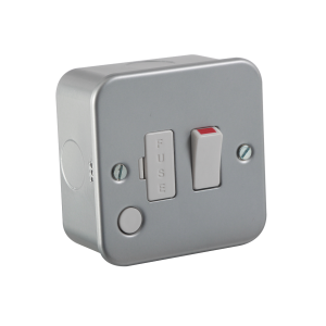 Metal Clad 13A Switched Fused Spur Unit with Flex Outlet-M6300F-Knightsbridge