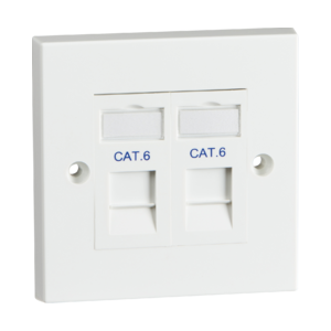 Twin Cat6 Outlet Kit-NET6KIT2-Knightsbridge