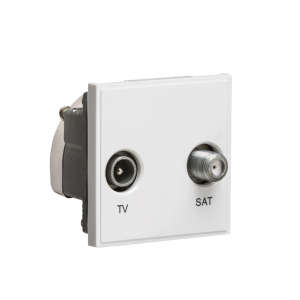 Diplexed TV /SAT TV Outlet Module 50 x 50mm-NETDISAT-Knightsbridge