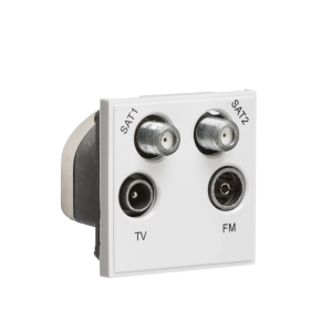 Quadplexed SAT1/SAT2/TV/FM DAB Outlet Module 50 x 50mm-NETQD-Knightsbridge