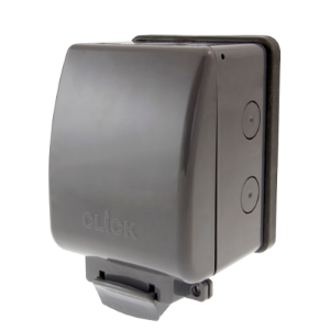 Click OA035AG 1 Gang 13 Amp DP Switched Socket Outdoor Weatherproof IP66