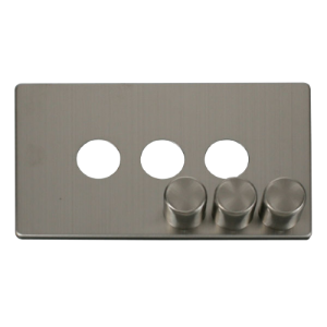 3G DIMMER SW PLATE - SCP243 - Scolmore