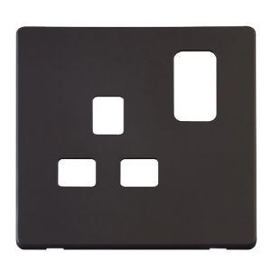 1G 13A SW SOCKET PLATE - SCP435 - Scolmore