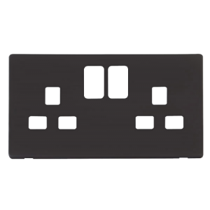 2G 13A SW SOCKET PLATE - SCP436 - Scolmore