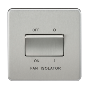 Screwless 10A 3 Pole Fan Isolator Switch-SF1100-Knightsbridge