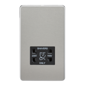 Screwless 115V/230V Dual Voltage Shaver Socket-SF8900-Knightsbridge