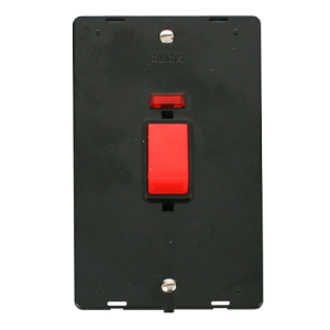 45A 2G PLATE DP SW + NEON INSERT - SIN203 - Scolmore
