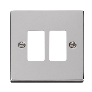 GRIDPRO 2 GANG DECO PLATE - VP**20402 - Scolmore