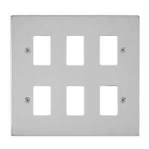 GRIDPRO 6 GANG DECO PLATE- VP**20506 -Scolmore