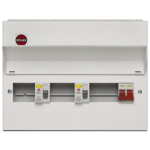 Wylex 10 Way 100A Dual Split Load High Integrity Metal Consumer Unit - Amendment 3