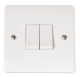 2-GANG 2-WAY 10A PLATE SWITCH-CMA012-Scolmore