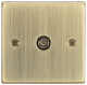 TV Outlet (non-isolated) - Square Edge Antique Brass-CS010AB-Knightsbridge