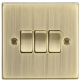 10A 3G 2 Way Plate Switch - Square Edge Antique Brass-CS4AB-Knightsbridge