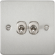 Flat Plate 10A 2G 2-way toggle switch-FP2TOG-Knightsbridge