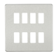 Screwless 8G grid faceplate-GDSF008-Knightsbridge