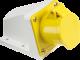 110V IP44 16A Angled Surface Mount Socket 2P+E-IN003-Knightsbridge