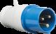 240V IP44 16A Plug 2P+E-IN006-Knightsbridge