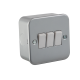 Metal Clad 10A 3G 2 Way Switch- M4000-Knightsbridge