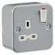 Metal Clad 13A 1G DP Switched Socket-MR7000-Knightbridge