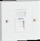 Single Cat6 Outlet Kit-NET6KIT1-Knighsbridge
